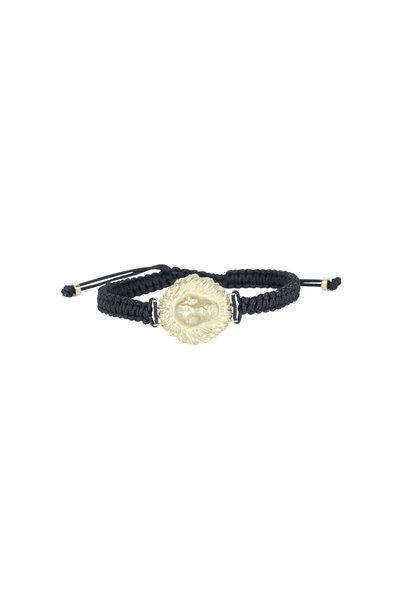 Kimberly McDonald - 18K White Gold Lion Head Macrame Bracelet