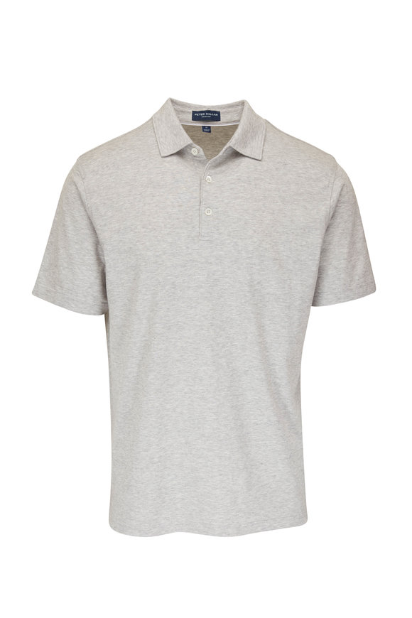 Peter Millar Gray Excursion Flex Polo