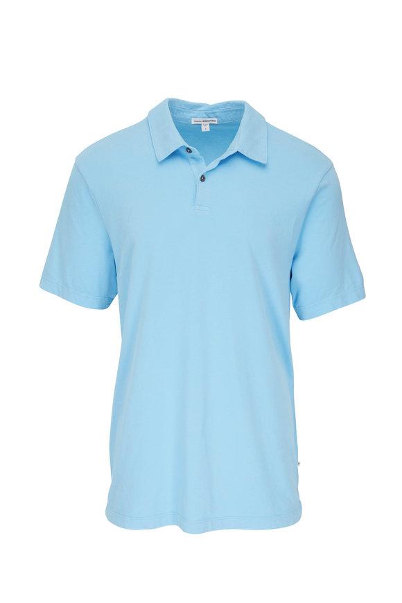 James Perse Marina Blue Jersey Polo