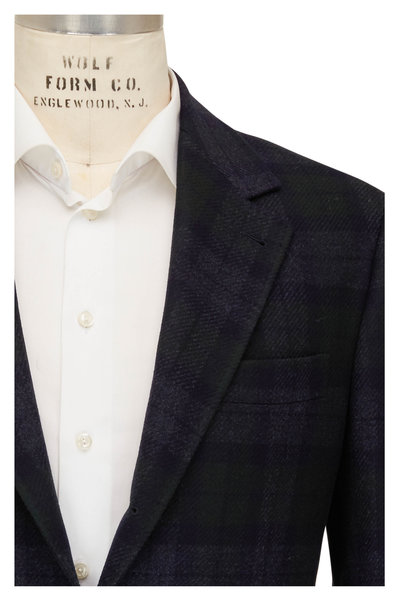 Brunello Cucinelli - Black Watch Plaid Wool & Cashmere Sportcoat