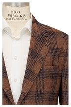 Brunello Cucinelli - Brown, Caramel, & Blue Plaid Sportcoat