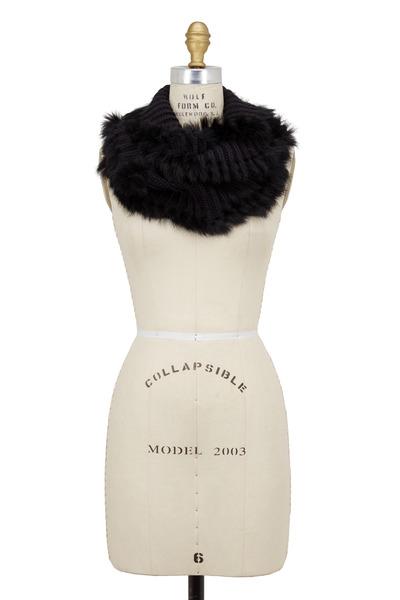 Adrienne - Black Infinity Fur Scarf