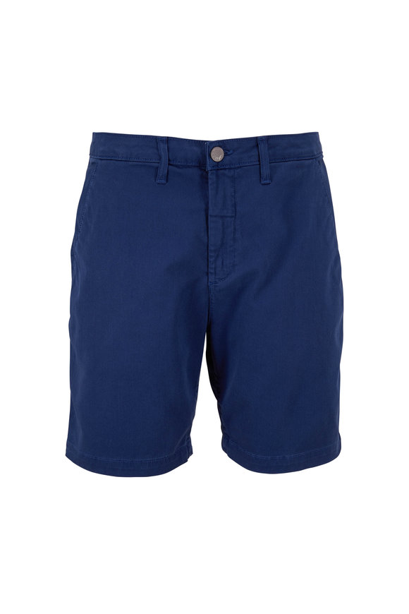 Monfrere Cruise Marine Blue Stretch Cotton Shorts