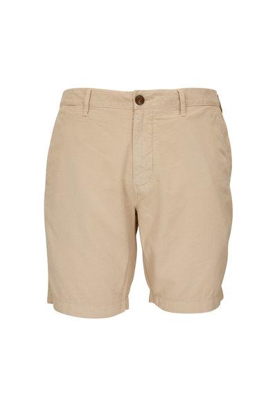 Faherty Brand - Harbor Khaki Cotton Blend Shorts