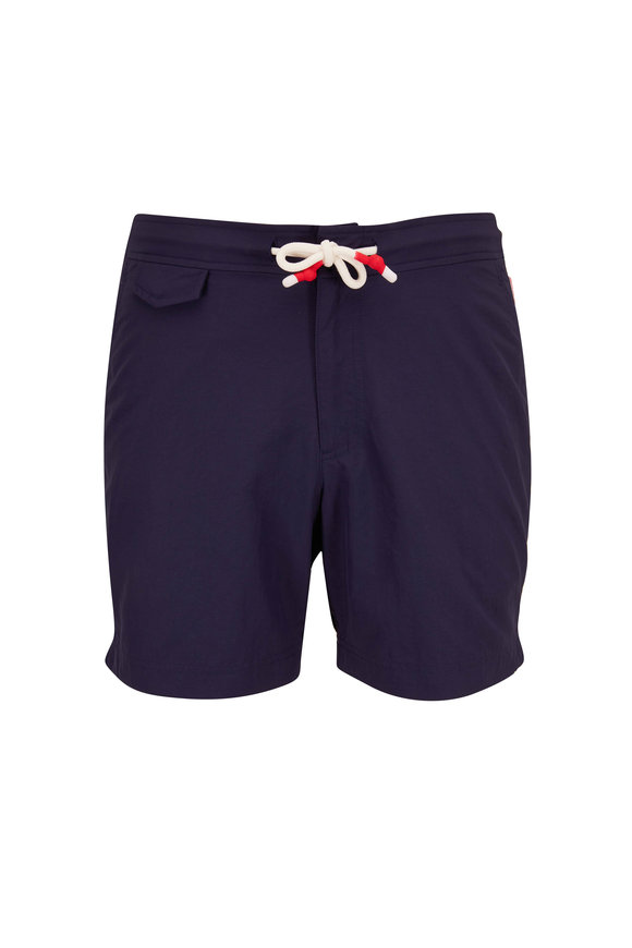 Orlebar Brown Standard Navy Blue Swim Trunks