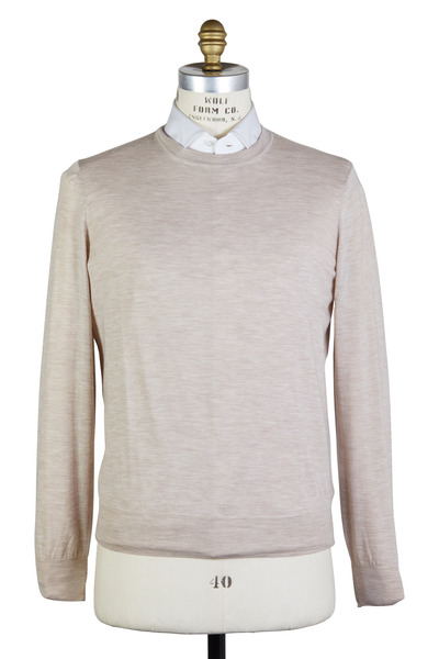 Brunello Cucinelli - Oatmeal Wool & Cashmere Sweater