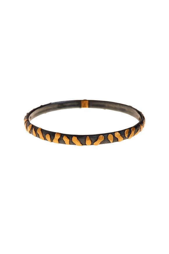 Yossi Harari 24K Yellow Gold & Silver Libra Bangle