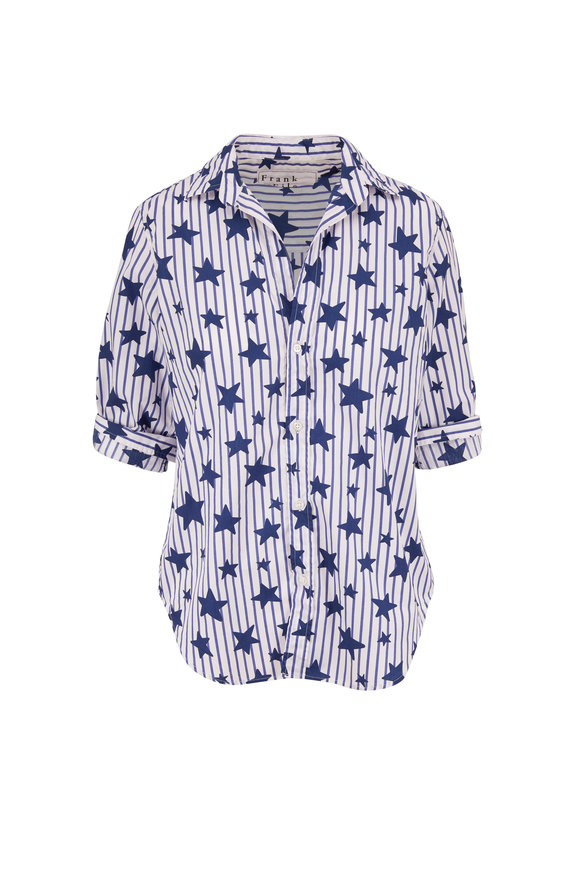 Frank & Eileen Frank Blue Stars & Stripes Button Down
