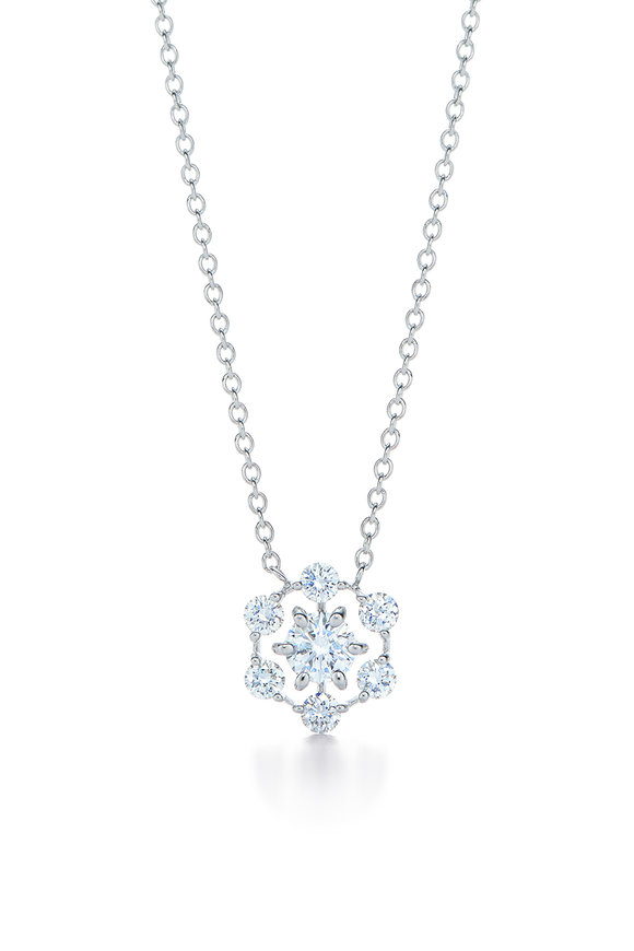 Kwiat White Gold Diamond Starry Night Pendant Necklace