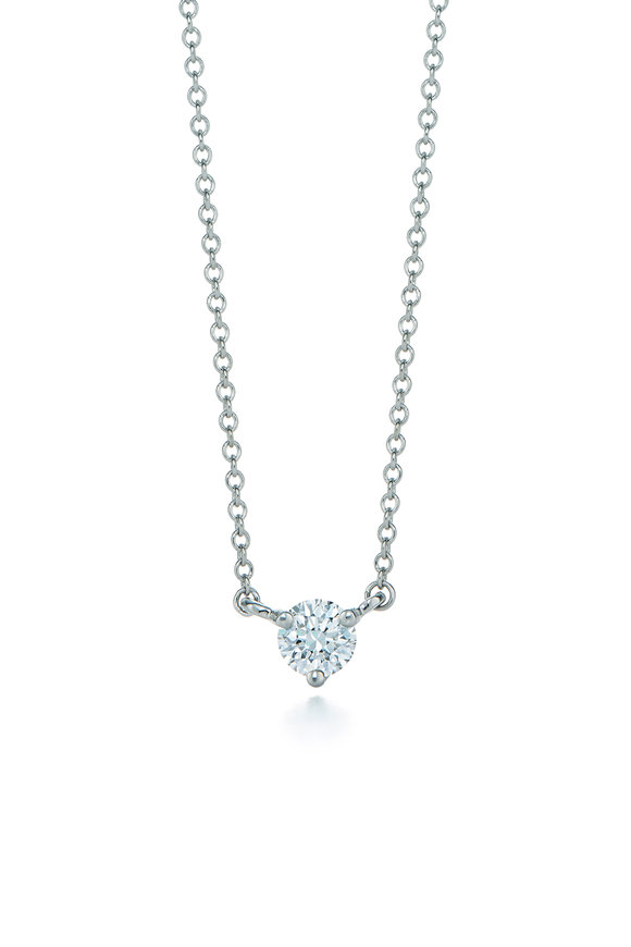 Kwiat Platinum Classic Diamond Pendant Necklace