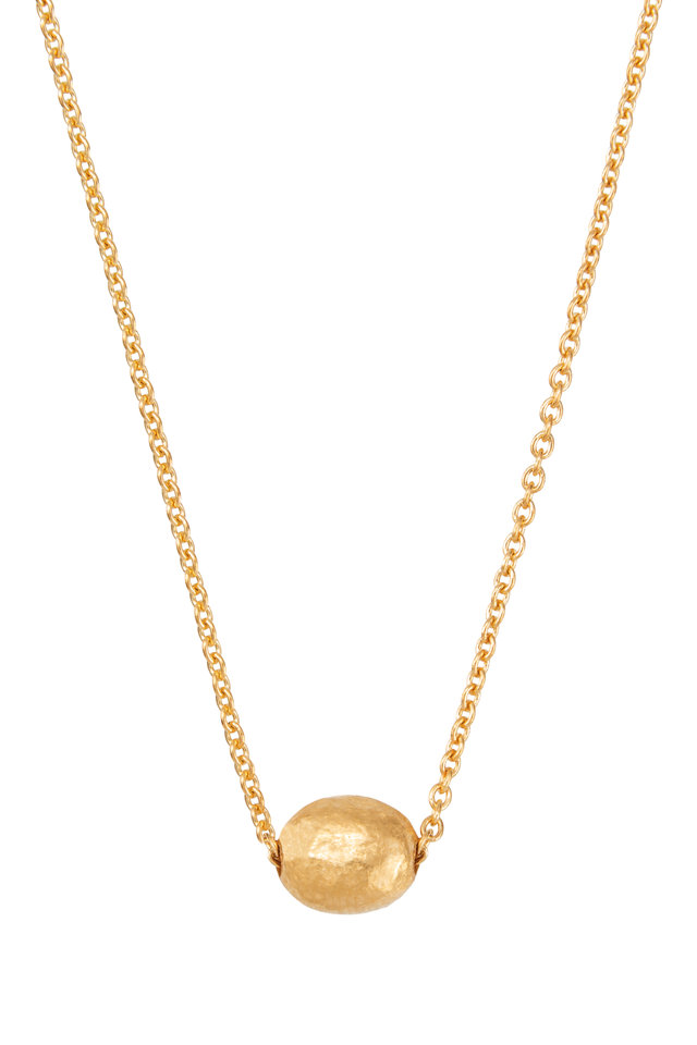 Yellow Gold Mini Bead Roxanne  Necklace