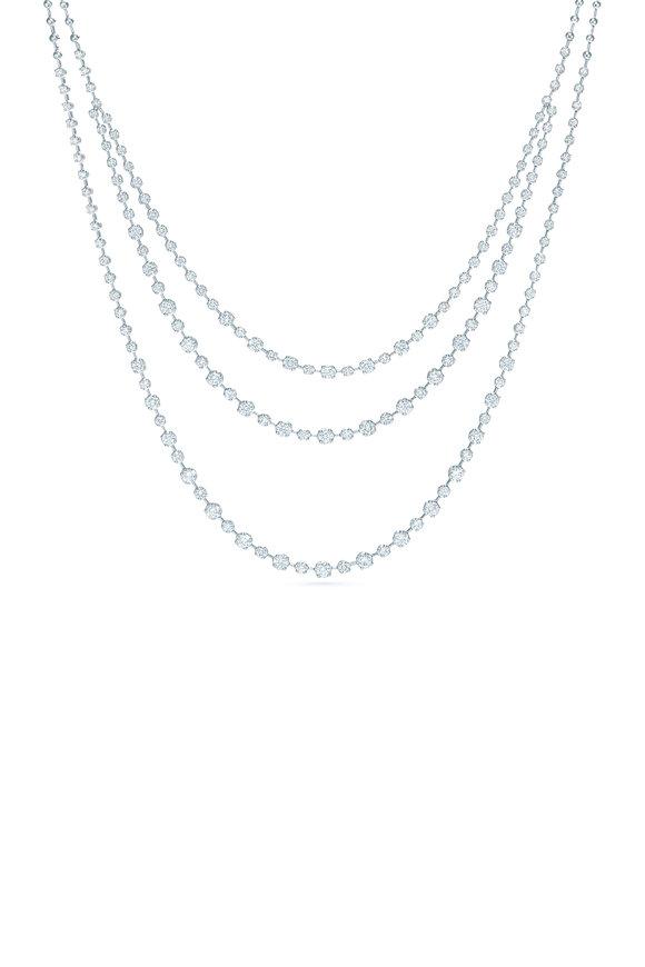 Kwiat 18K White Gold Diamond Starry Night Necklace
