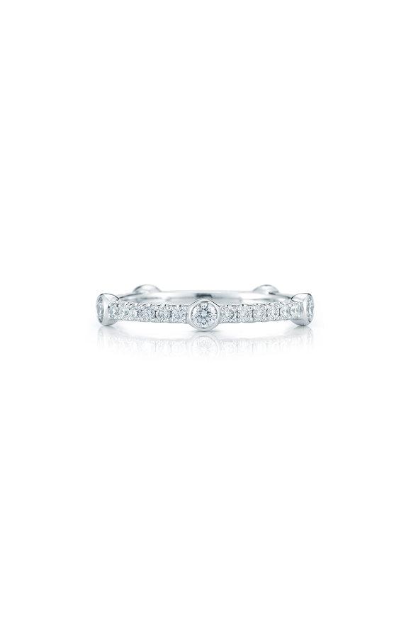 Kwiat 18K White Gold Diamond Stack Ring