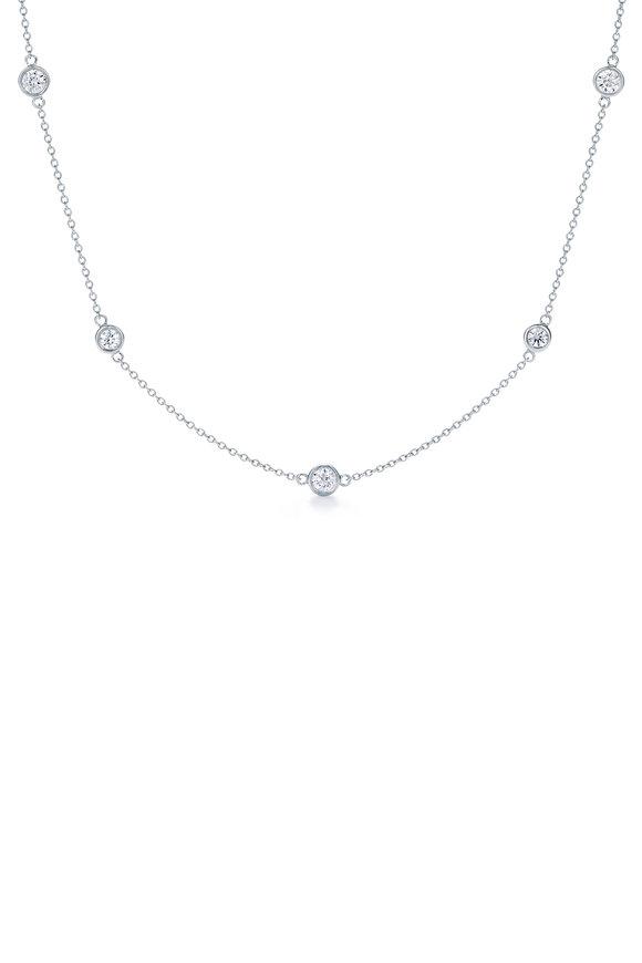 Kwiat 18K White Gold Diamond String Necklace