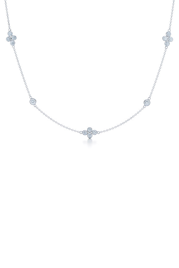 Kwiat 18K White Gold Diamond String Necklace