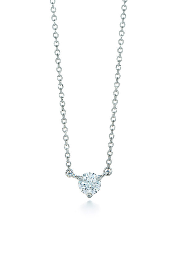 Kwiat Platinum Classic Solitaire Diamond Necklace