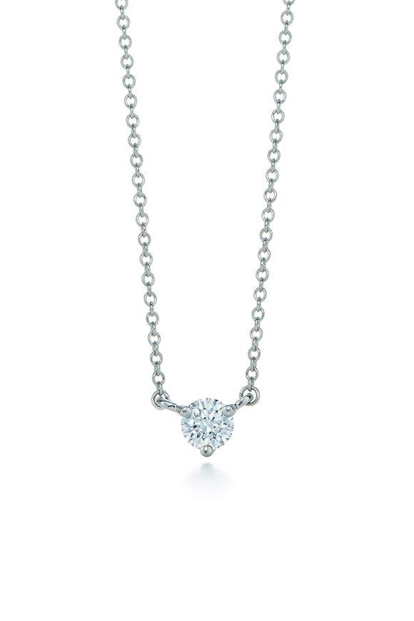 Kwiat Platinum Classic Solitaire Diamond Necklace