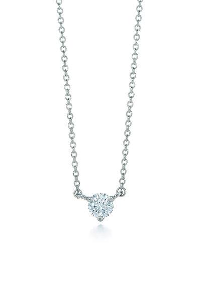 Kwiat - Platinum Classic Solitaire Diamond Necklace