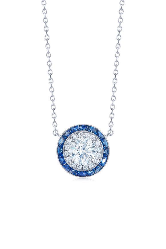 Kwiat 18K White Gold Silhouette Sapphire Necklace