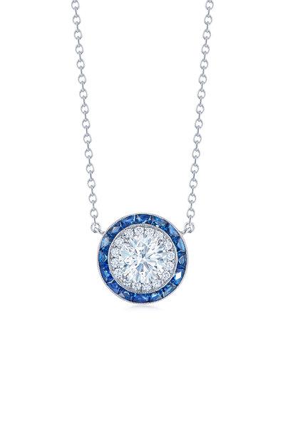 Kwiat - 18K White Gold Silhouette Sapphire Necklace