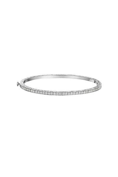 Penny Preville - White Gold Thin Diamond Bangle Bracelet
