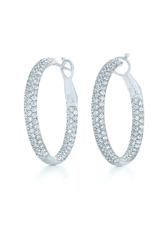 Kwiat 18K White Gold Diamond Moonlight Hoop Earrings