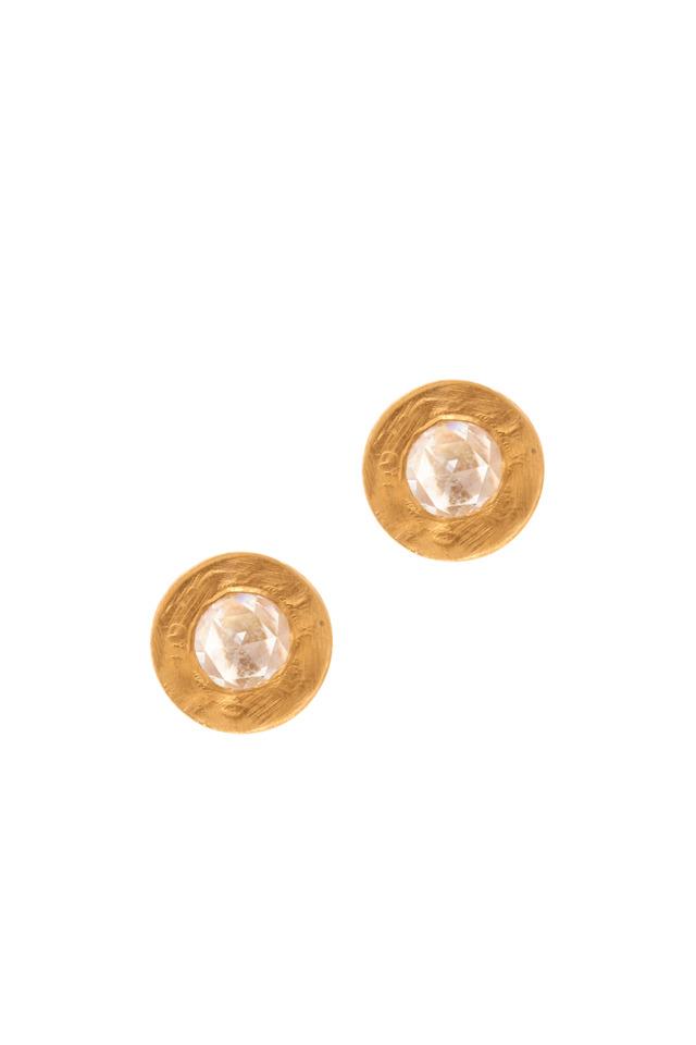 Mica Yellow Gold Diamond Stud Earrings