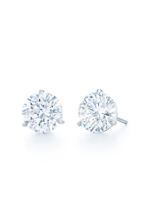 Kwiat Platinum Diamond Stud Earrings