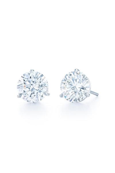 Kwiat - Platinum Diamond Stud Earrings