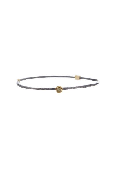 Todd Reed - Yellow Gold Rose-Cut & Raw Diamond Bangle Bracelet
