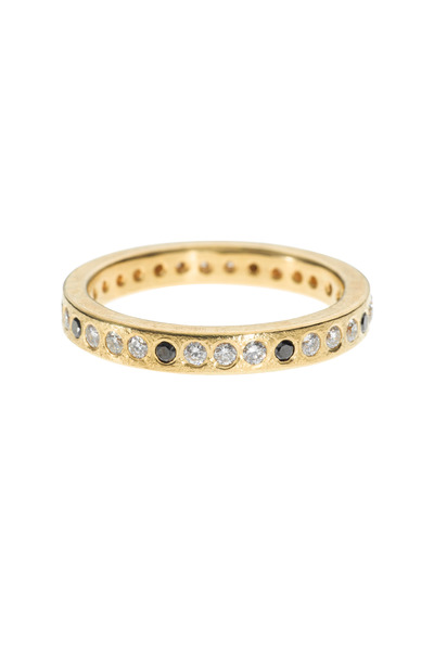 Todd Reed - Yellow Gold Black & White Diamond Band