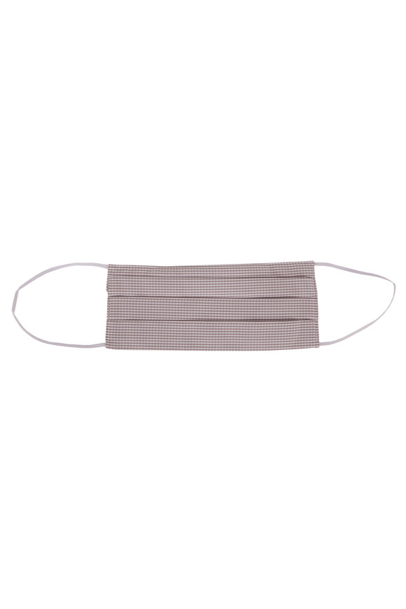 Made by Hand Gray Standard Gingham Mask