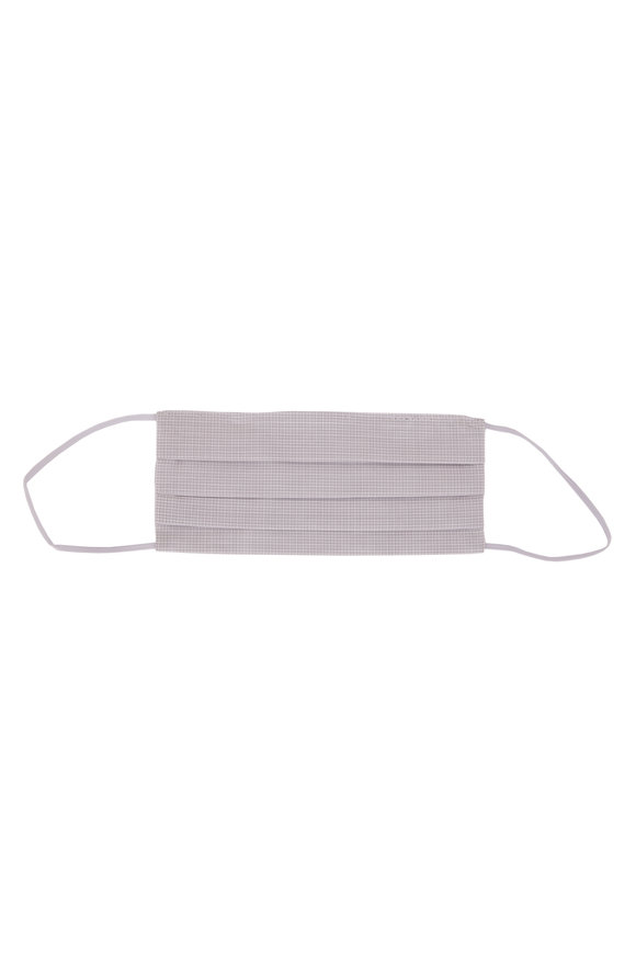 Made by Hand Fine White & Gray Microcheck Mask