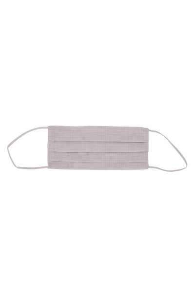 Made by Hand - Fine White & Gray Microcheck Mask
