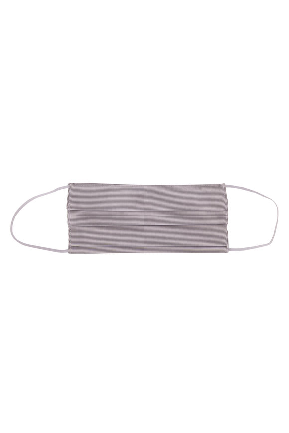 Made by Hand Gray & White Microcheck Mask