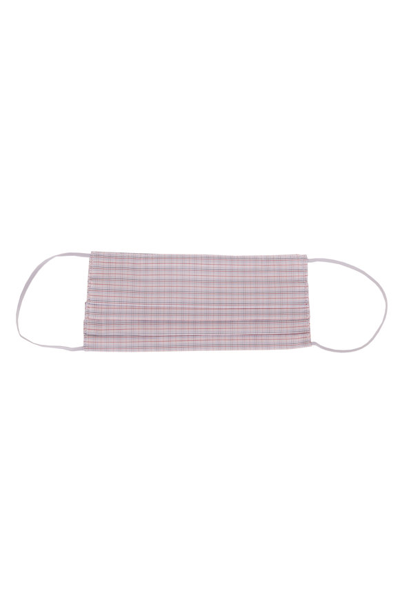 Made by Hand Pink, Red & White Plaid Mask