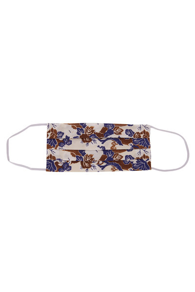 Made by Hand - Brown & Blue Floral Mask