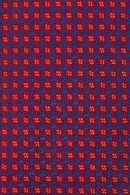 Eton - Red & Blue Geometric Silk Necktie