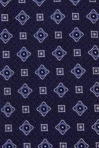 Eton - Navy Blue Geometric Silk Necktie