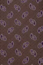 Eton - Green & Purple Paisley Silk Necktie