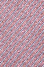 Salvatore Ferragamo - Pink & Blue Printed Silk Necktie
