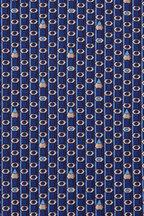 Salvatore Ferragamo - Navy Blue Pencil Silk Necktie