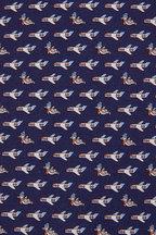 Salvatore Ferragamo - Navy Blue Airplane Silk Necktie