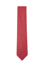 Salvatore Ferragamo - Red Airplane Silk Necktie