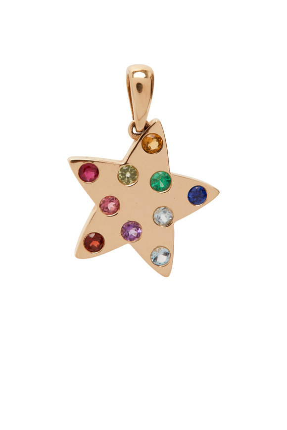 My Story Jewel 14K Yellow Gold Rainbow Star Pendant