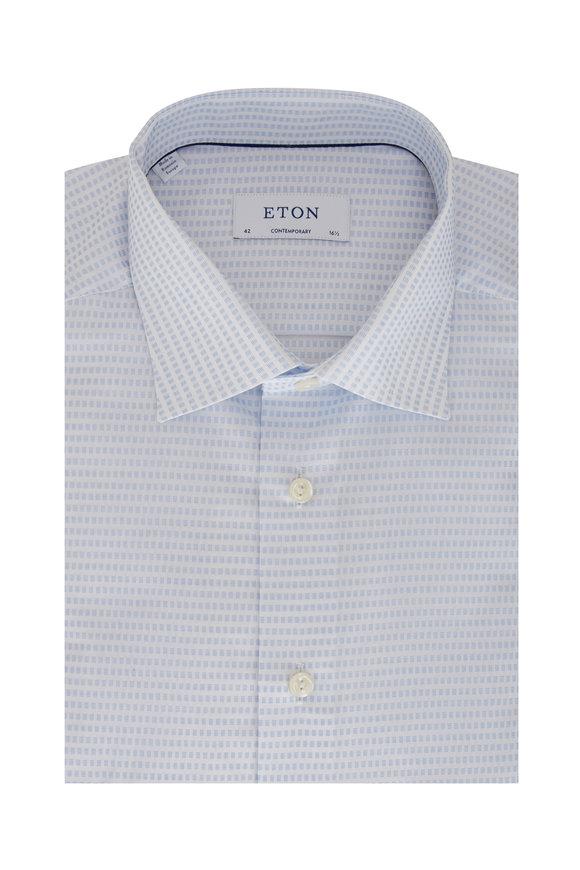 Eton Light Blue Square Contemporary Fit Dress Shirt