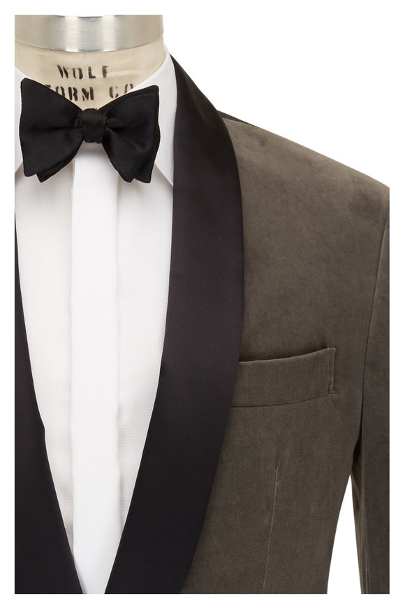 Brunello Cucinelli Gray Velvet Dinner Jacket