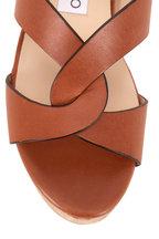 Jimmy Choo - Atia Cuoio Leather Cork Wedge Slide Sandal, 75mm
