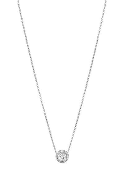 Penny Preville - White Gold Diamond Twist Pendant Necklace