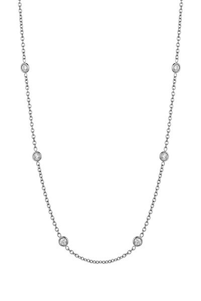 Penny Preville - White Gold Diamond Spectacle Chain Necklace